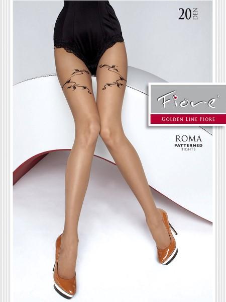 Ciorapi cu model Fiore Roma 20 DEN