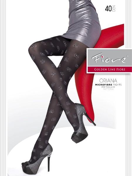 Ciorapi Fiore ORIANA (Lurex-Microfibra) 40 DEN