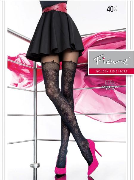 Ciorapi cu model Fiore ETEL