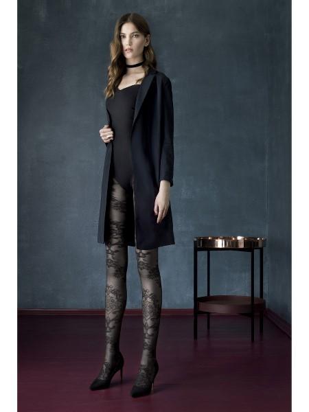 Ciorapi cu model Fiore Black