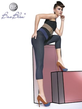 Treggings Short Bas Blue BELINDA