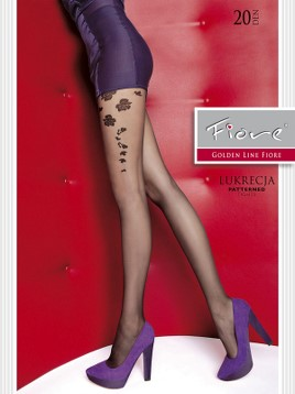 Ciorapi cu model Fiore LUKRECJA