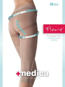 Leggings Short medicinali Fiore FIT 80 DEN
